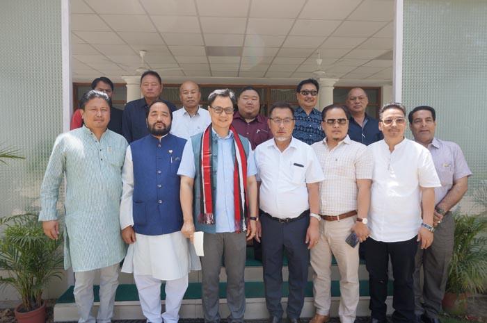 State BJP delegation calls on Rijiju