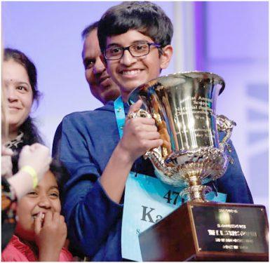 Karthik Spell Bee champion