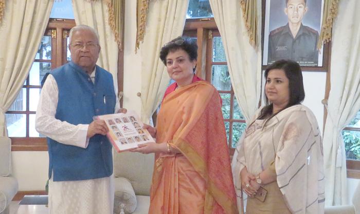 NCW Chief  meets Nagaland Guv