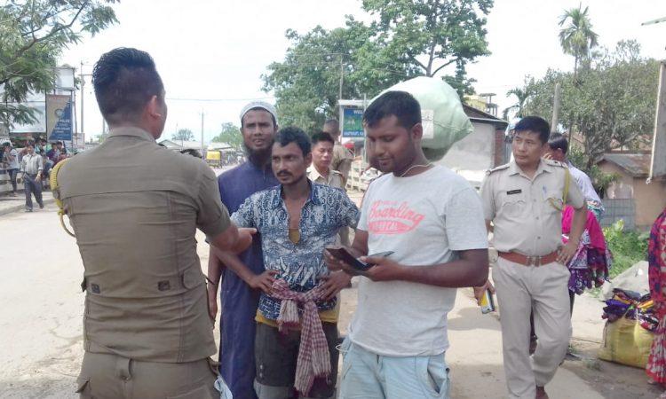 Checking at nagaland gate