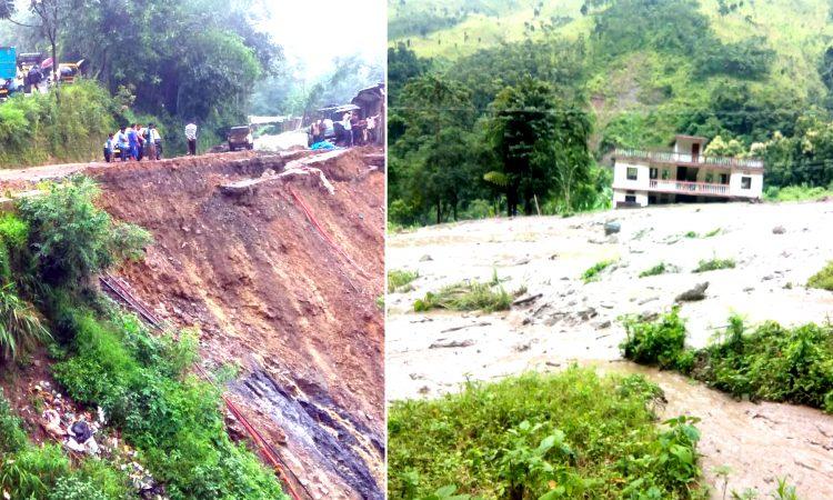 Landslides continue