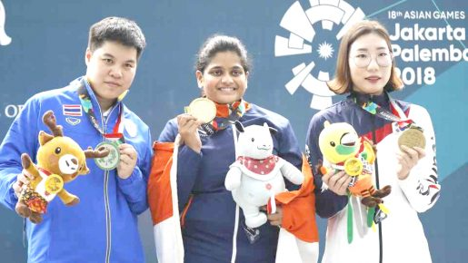Rahi Sarnobat wins Gold