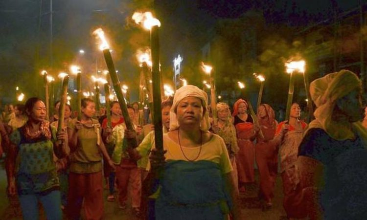 Manipur women protest