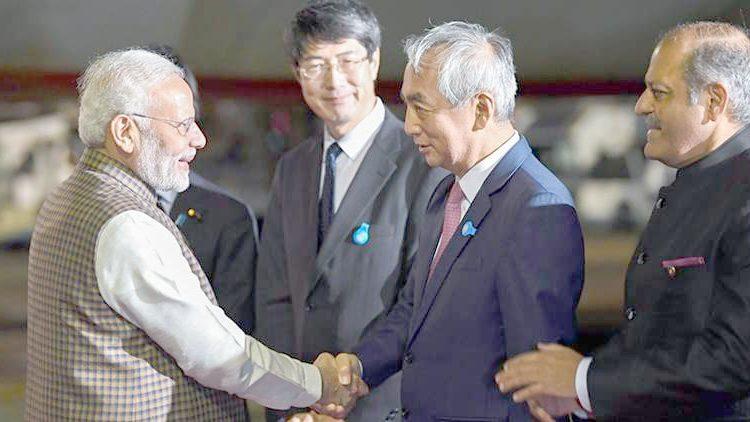 Modi reaches japan