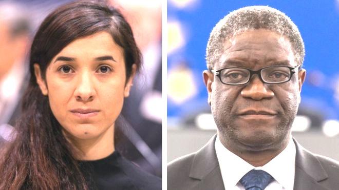 Nobel Peace Prize awarded to  Denis Mukwege & Nadia Murad