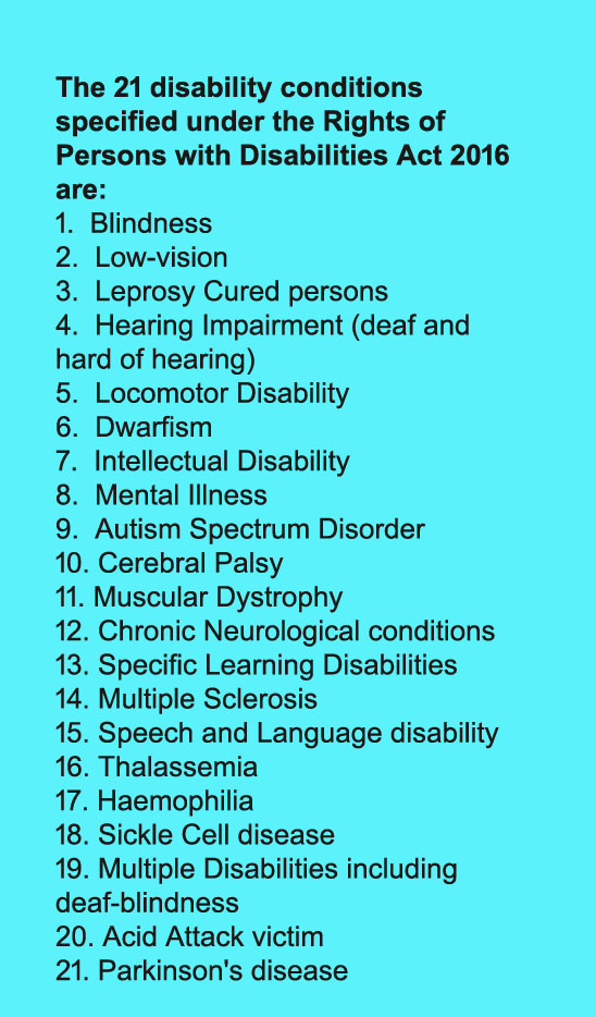Disability conditions