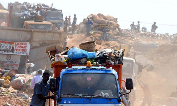 waste on open trucks