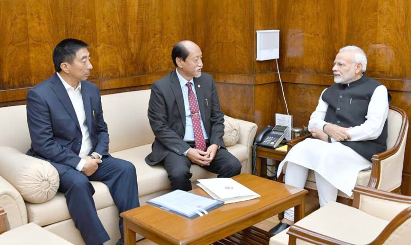 Rio meets PM; seeks early  settlement of Naga issue
