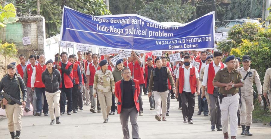 NGBF holds peace rally demanding  final settlement of Naga political issue