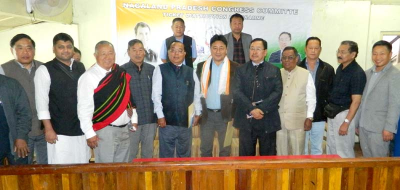Congress hands over tickets to K L Chishi  and Alemjongshi