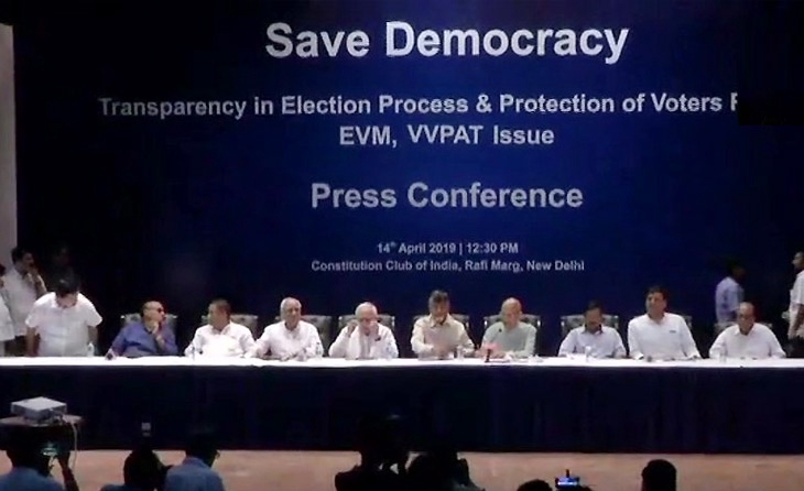 Opposition questions reliability of EVMs, demands 50% VVPAT count