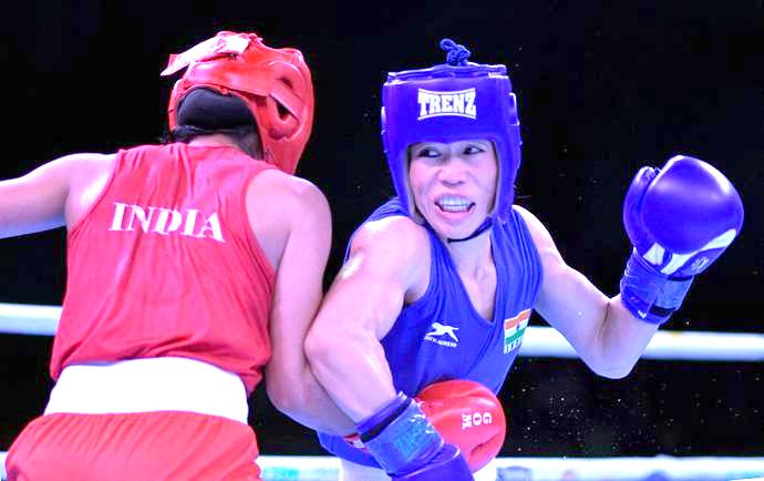 Mary Kom beats Nikhat