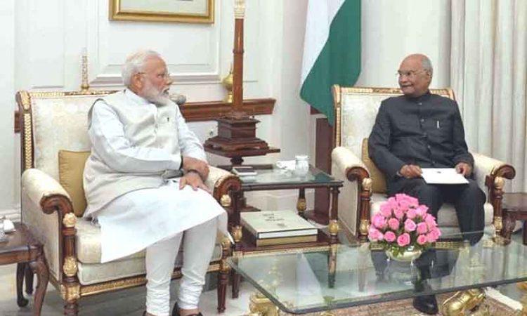 Modi with Kovind
