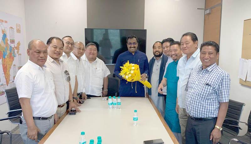Nagaland BJP delegation calls on central leaders