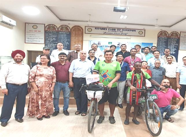 Rotarian cyclist