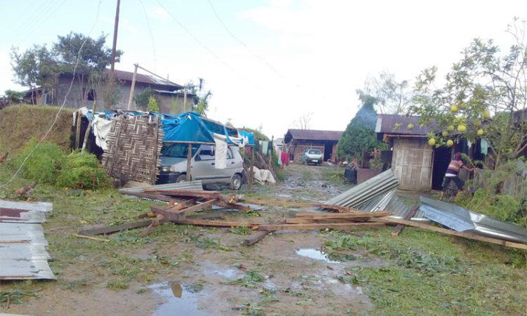 Thunderstorm Naghuto village