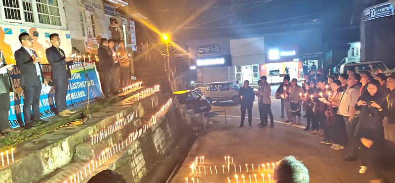 NSF holds candle light vigil for Naga solution