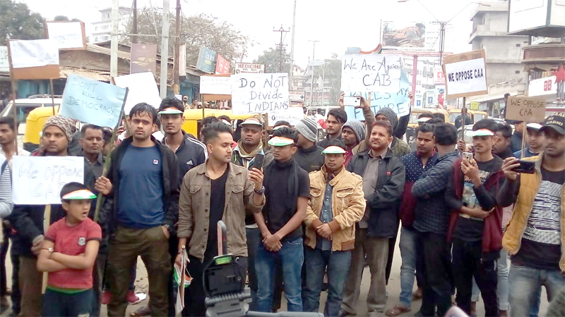 Hundreds join CAA protest in Dimapur