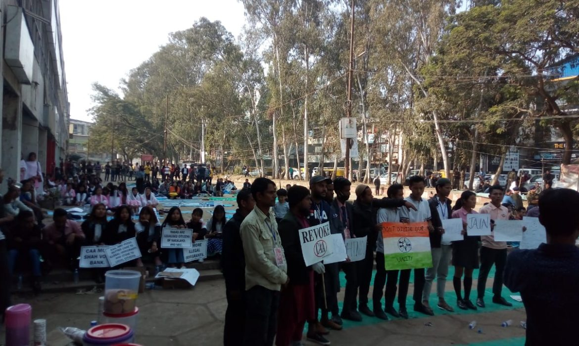 Students' lead protest against CAA in Dimapur