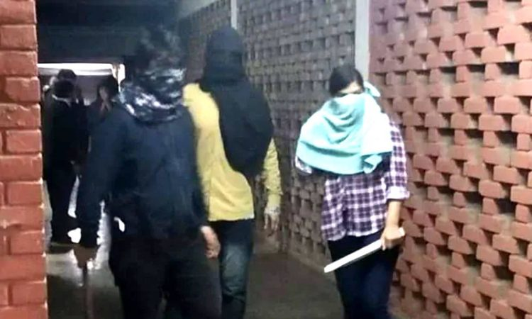masked men at JNU