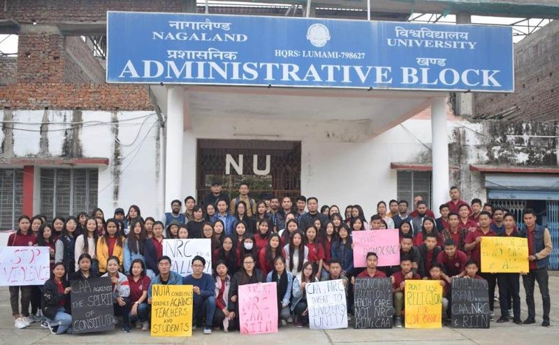 Nagaland University stage anti-CAA protest