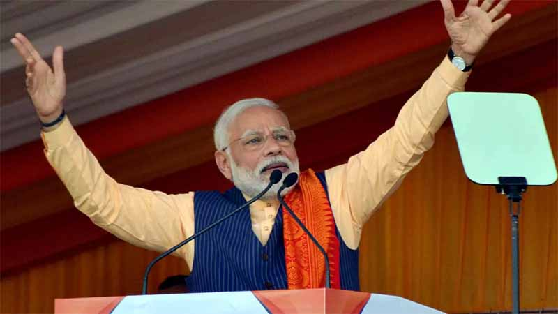 """Celebrate life,"" Modi tells insurgents  and pitches for peace"