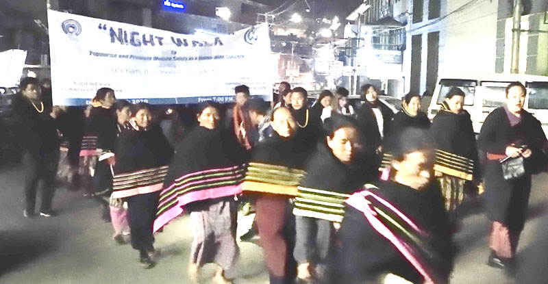Naga women join Night Walk campaign for safety