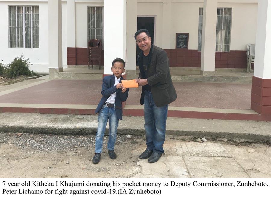 7 year old Kitheka donates his pocket money to DC Zunheboto