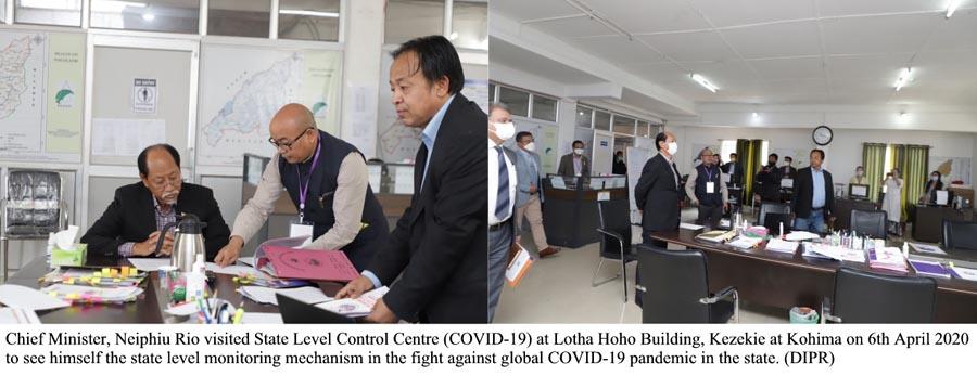 CM Neiphiu Rio visit State Level Controll Room 1