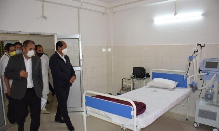 CM visits Dimapur Covid 19 Hospital