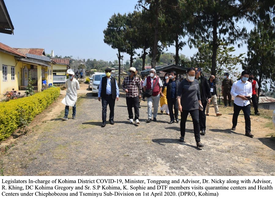 Legislators in charge of Kohima district Covid 19 visits quarantine centres and health centres