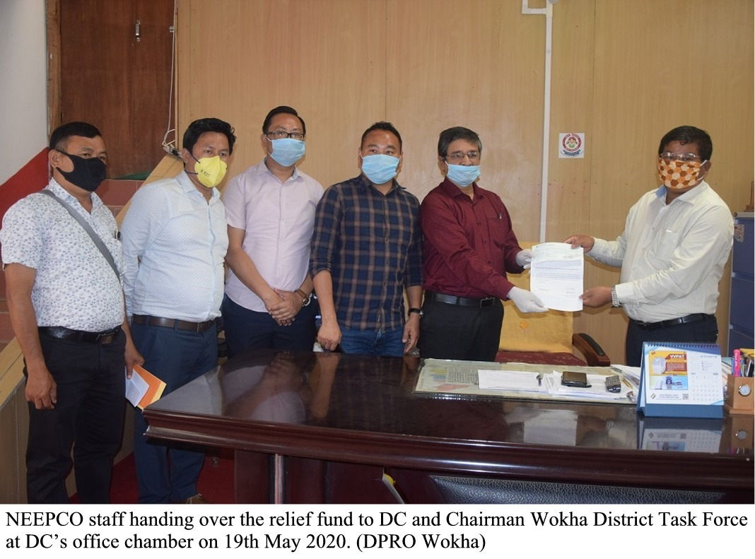 NEEPCO staff donates relief fund to Wokha DTF