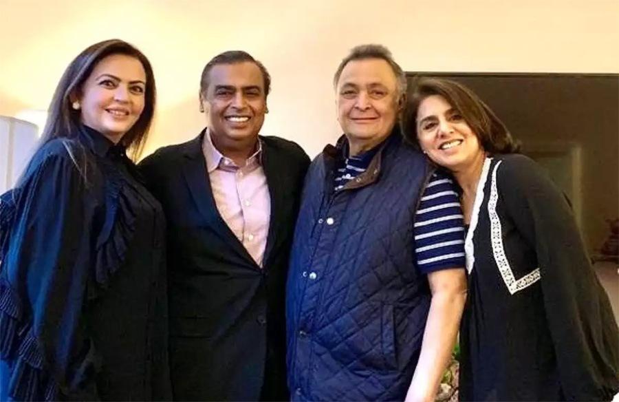 Neetu Kapoor thanks Ambani family for unending support ...