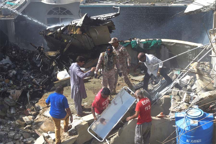 Pakistan plane with 107 on board crashes in residential area in Karachi; several feared dead
