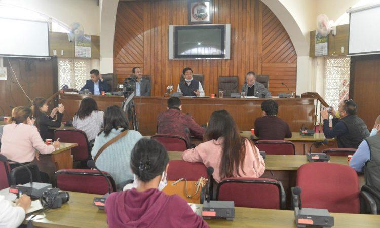 Sentiyanger addresses press conference 1