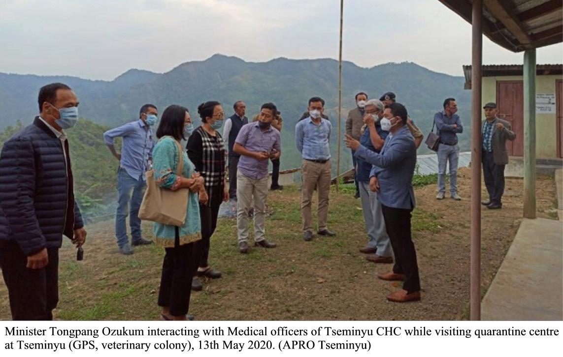 Tongpang and others visits quarantine centre Tseminyu