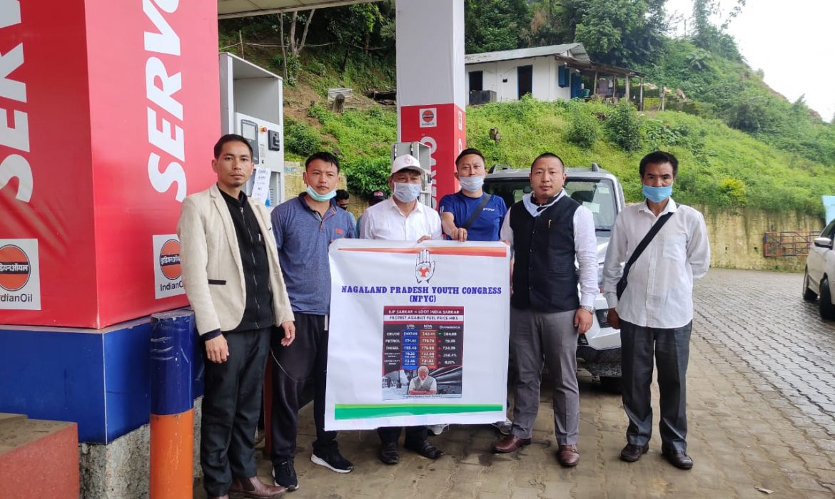 Nagaland Youth Congress launches poster campaign against fuel price hike & COVID cess