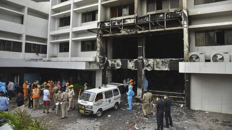 10 patients killed in fire at COVID care facility in AP