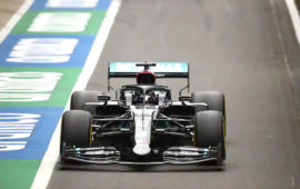 Hamilton sets pace in 70th Anniversary Grand Prix practice