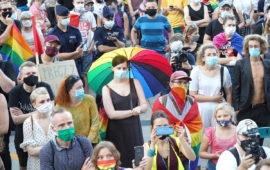 LGBT protesters decry rising homophobia, arrests in Poland