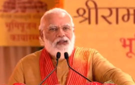 Wait of centuries has ended: Modi after  Ram temple 'bhoomi pujan'