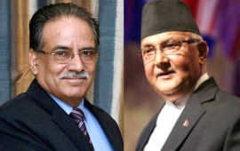 Locked in power tussle with Nepal PM Oli, Prachanda tells party workers to prepare for worst