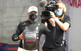 Bottas pips Hamilton for 70th  Anniversary GP pole
