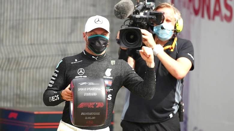 Bottas pips Hamilton for 70th Anniversary GP pole