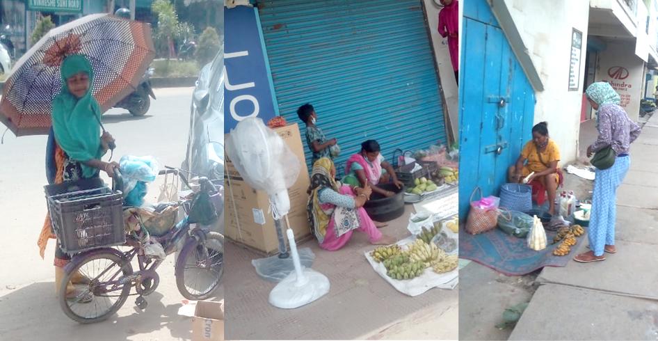 Vegetable vendors women