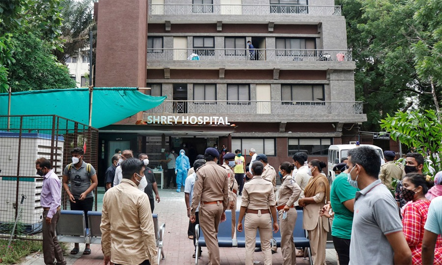 8 COVID-19 patients killed in fire at Ahmedabad hospital