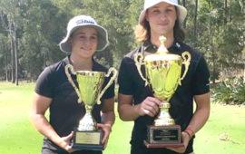 Tennis world No.1 Ashleigh Barty aces Aussie golf tournament