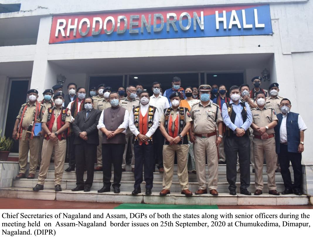 Chief Secretary Level Meeting on Assam Nagaland