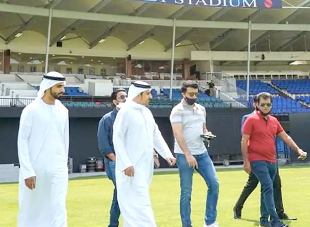 "IPL 2020: BCCI President Sourav Ganguly reviews preparations at ""Famous Sharjah Stadium"""