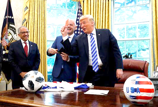 Infantino meets Donald
